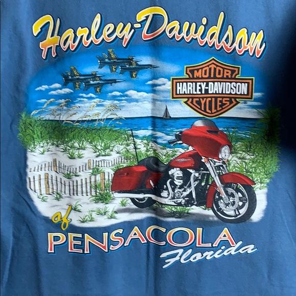 Harley-Davidson Other - Harley-Davidson Slate Blue Pensacola Tee T-Shirt